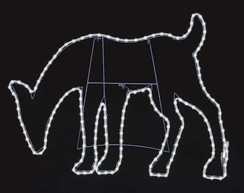led deer yard art