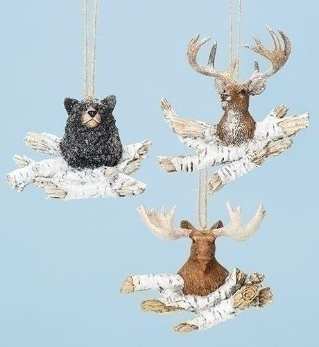 bear head moose head deer head wildlife ornaments