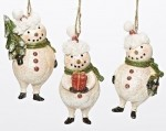 Plump snowman ornaments
