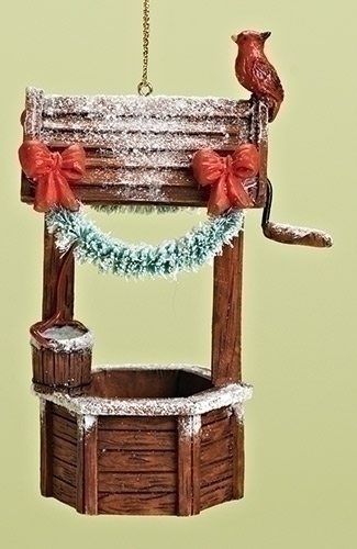 christmas wishing well ornament