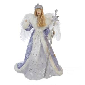 frosted kingdom snow queen tree topper