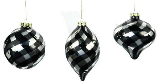 ocb005 swirl stripe glass ornaments