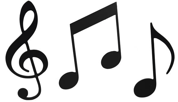 ocb019 black musical note ornaments music ornament