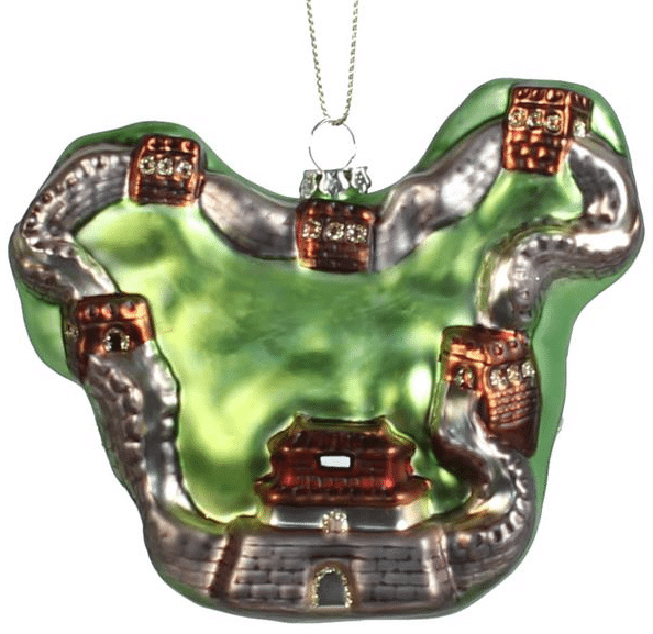 great wall of china glass ornament