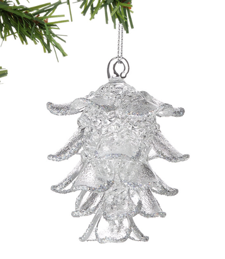 clear pine cone ornament