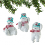tumbling snowman ornament
