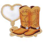 western love ornament cowboy boot ornament