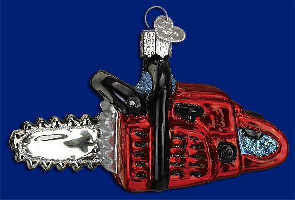32162 old world christmas chainsaw ornament