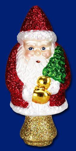50006 old world christmas miniature santa tree topper