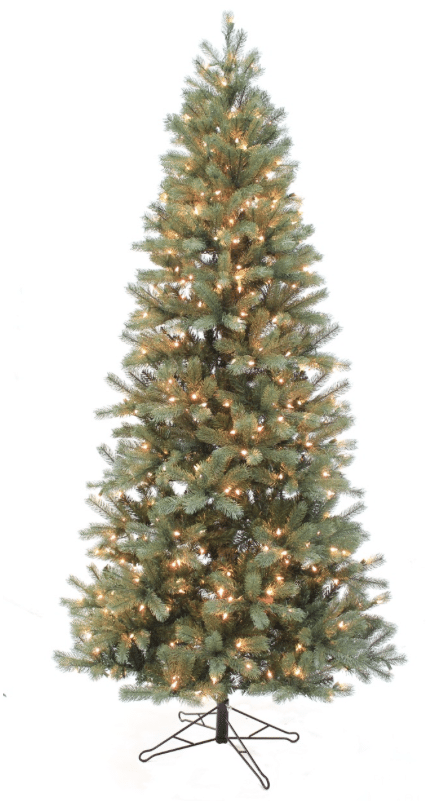 On Sale ! Douglas Fir Slim Pre-Lit Artificial Christmas Tree - Artificial Christmas Trees Archives - Christmas Store