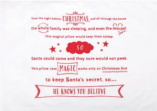 christmas magic pillowcase