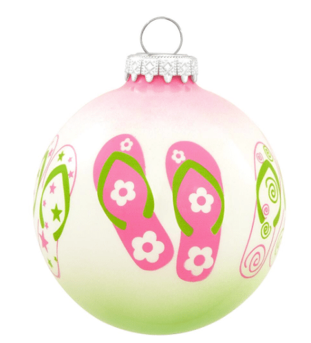 glass flip flop ornament