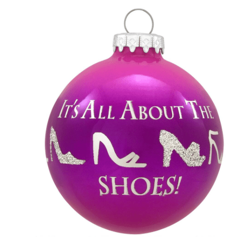 it's all about the shoes ornament