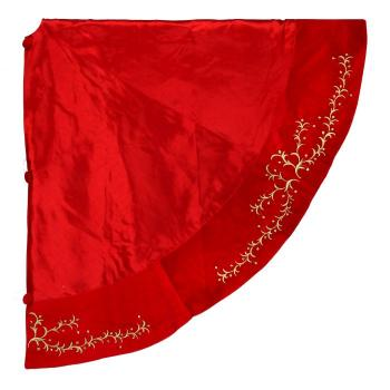 red and gold vine tree skirt