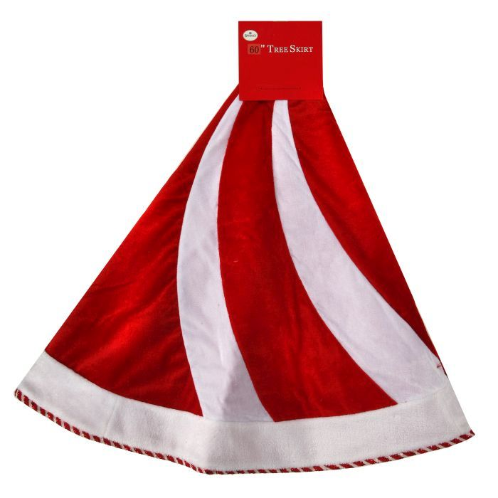 red and white candy land tree skirt