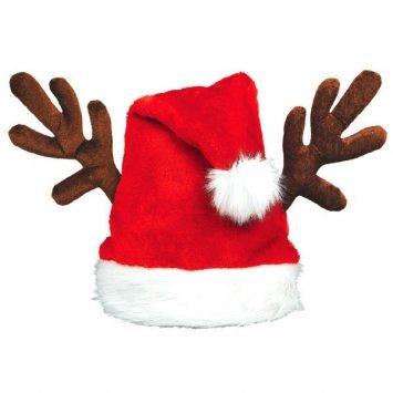 santa hat with antlers