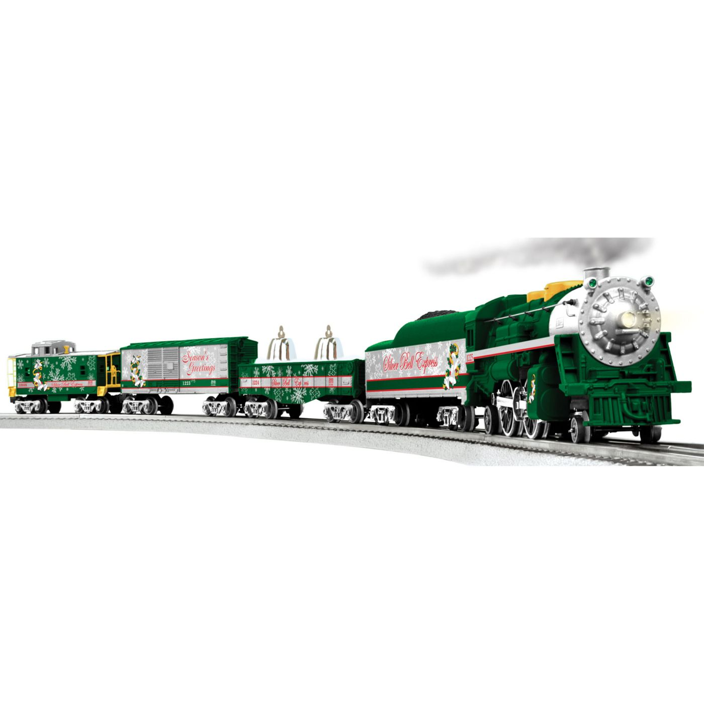 silver bells christmas train with remote  o gauge train