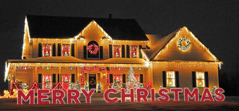 50 foot merry christmas yard art sign with led rope lights
