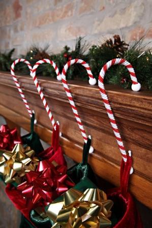 candy cane stocking holder hooks - Candy Cane Christmas Shop