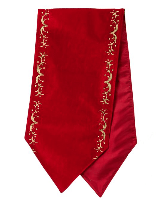 60 inch table runner red velvet table runner
