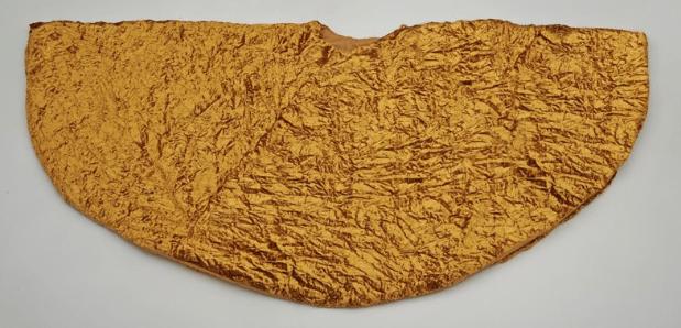ts098 gold crushed velvet tree skirt