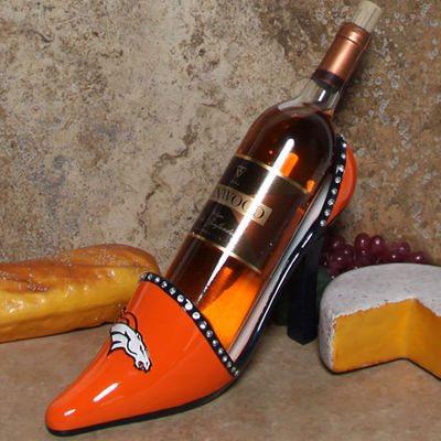 denver broncos wine bottle holder