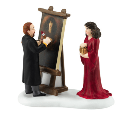 department 56 dickens village accessory new 2016 rossetti and his muse along with london gallery