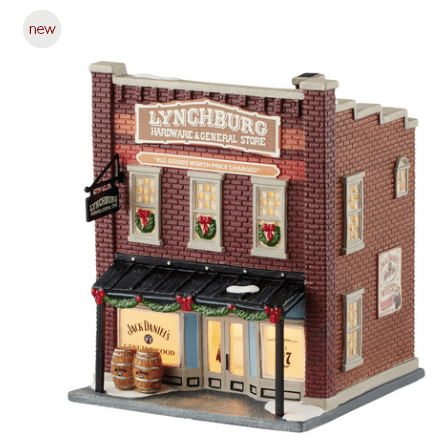 department 56 New England Village Lynchburg Hardware and general store jack daniels