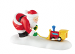 department 56 north pole accessory toot toot tester pull toy factory