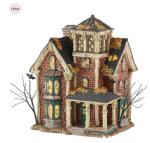 department 56 Snow Village Halloween Ghastlys haunted villa new 2016