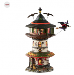department 56 snow village halloween witch way home tower