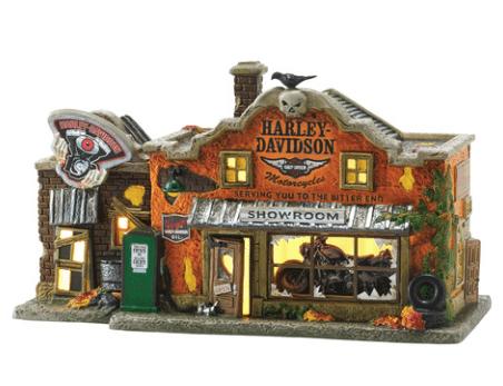 department 56 halloween village harley davidsons last chance