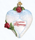 old world christmas in loving memory glass ornament