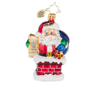 christopher radko rooftop checklist ornament