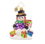 old world christmas snow drift gifts gem ornament