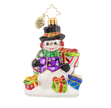 old world christmas snow drift gifts gem ornament