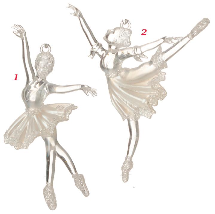 clear sparkle ballerina ornaments