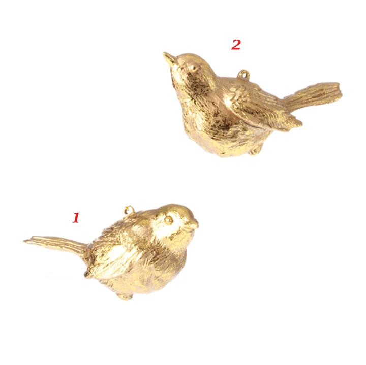gold bird ornaments