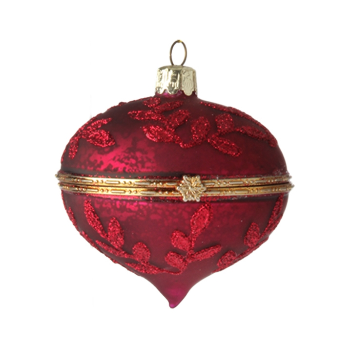 red and gold kismet box ornament