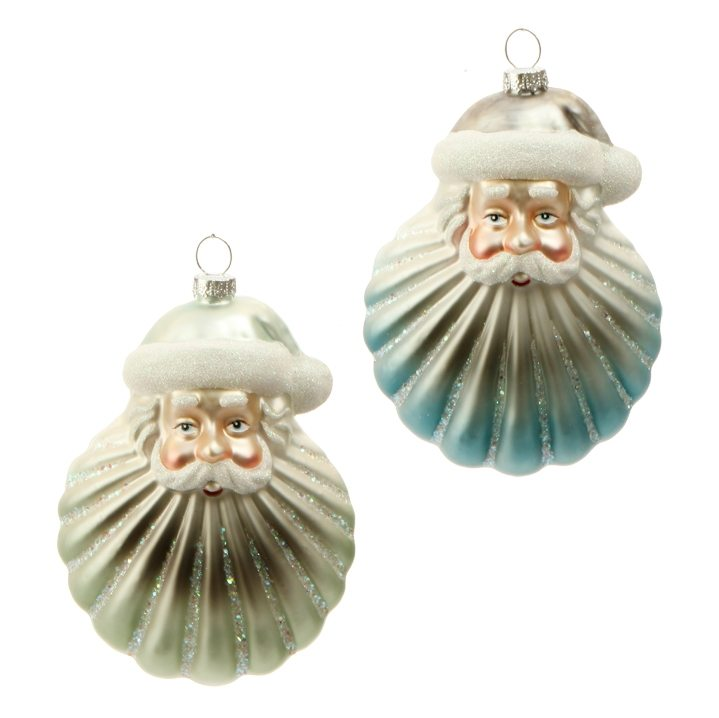 3624625 santa seashell ornament