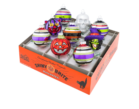 christopher radko halloween 9 piece rounds and shapes ornaments