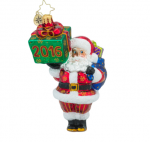 christopher radko wrapping up 2016 santa ornament