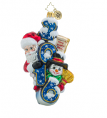 christopher radko sweeping in the new year 2016 santa penguin ornament
