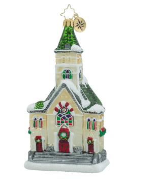christopher radko keeping the faith church ornament