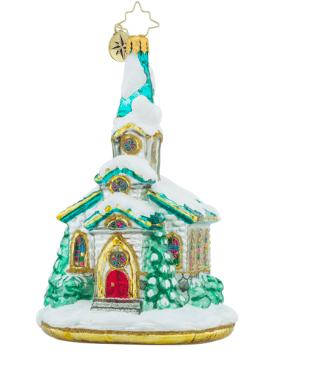 christopher radko pause for prayer church ornament
