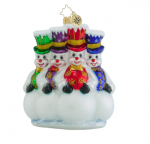 christopher radko here for the party snowmen ornament