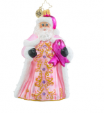 christopher radko perfectly pink gent breast cancer ornament