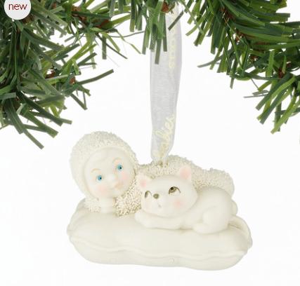 snowbabies catnap ornament