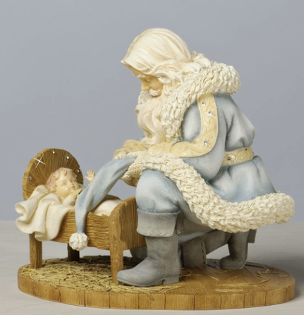 foundations kneeling santa with baby jesus