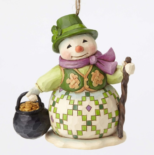 jim shore irish snowman ornament 2016